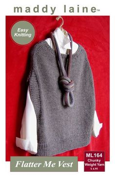 Womens Sweater Knitting Patterns MaddyCrafty Does It Again – New Vest Pattern! · Knitting | CraftG...