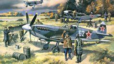 истребитель, арт, английский, supermarine, самолет, spitfire