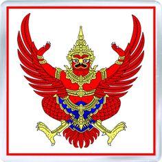 $3.29 - Acrylic Fridge Magnet: Thailand. Coat of Arms of Thailand