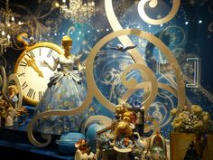 Galeries Lafayette, an upscale French department store, like London's Harrods got in the spirit of the season with Disney Princess-themed Christmas display windows. Each scene shows a Princess mannequin or dress surrounded with movie props and merchandise to advertise the Disney pop-up store inside.