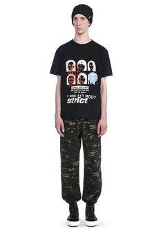 ALEXANDER WANG Elasticated Camo Chinos With Strict Embroidery. #alexanderwang #cloth #