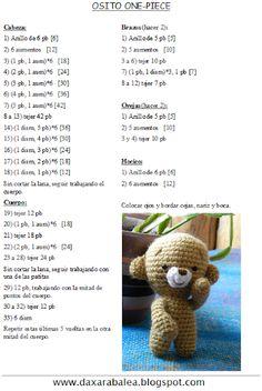 Patrones de Amigurumis paso a paso, 2 - Crochetisimo Crochet Animal Patterns, Crochet Doll Pattern, Crochet Patterns Amigurumi, Crochet Animals, Crochet Dolls, Doll Patterns, Crochet Bear, Free Crochet, Paris Crafts