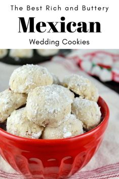 holiday recipes Rich buttery melt in you mouth Mexican Wedding Cookies! These should be on every holiday dessert tray! Mexican Wedding Cake Cookies, Italian Wedding Cookies, Mexican Cookies, Holiday Cookies, Holiday Baking, Christmas Desserts, Chistmas Cookies, Tea Cakes, Mexican Food Recipes
