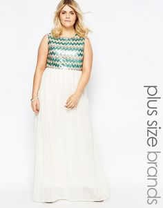 951b06c63ce Club L Plus Maxi Dress With Sequin Top