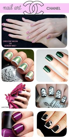 crescent moon e border nails blog meninaIT