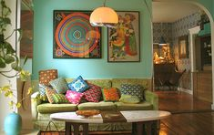 our living room color... need to jazz it up with more vibrant colors like this pic