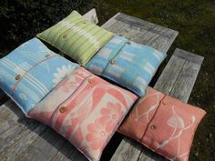 pillows, made of vintage blankets, by Kyroushka/Eexterhout
