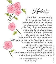 A Mother Is Never Ready My Daughter Wedding Poem Personalized Poem To My Daughter, Message To Daughter, Mother Daughter Wedding, Mother Daughter Quotes, Mother Quotes, Mother Of The Bride, Mother Daughters, Wedding Poems, Wedding Day