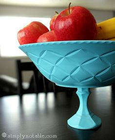 Fruit Bowl and Cake Stands in fun colors. Simple. Cheap. Elegant.