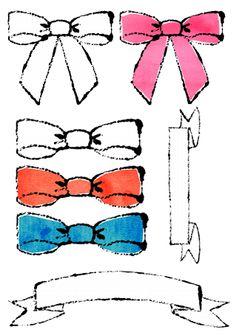 おしゃれなリボン手描き無料イラスト 手書きイラスト Royalty Free (RF) ribbon Clipart リボンイラスト リボンイラスト手書き リボンイラストおしゃれ