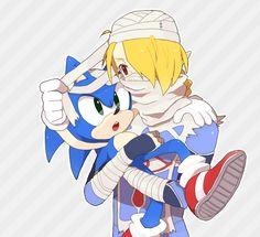 Smash Bros fan art - Sonic and Sheik