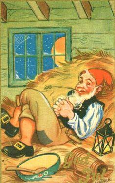 Julekort Birger Cranner brukt 1945