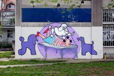 Osveta pudlice / pseći frizerski salon / Vračar #BeogradskiGrafiti #StreetArt #Graffiti #Beograd #Belgrade #Grafiti