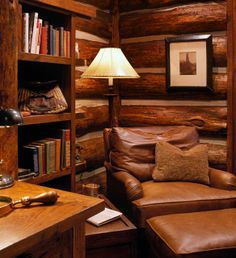 By definition, a home library is a place in a house where one would store his or her books in a composed manner. A home library is maybe the most devout space for such people that are into unquenchable perusing… Continue Reading → Home Library Design, House Design, Cabin Design, Rustic Style, Rustic Decor, Rustic Wood, Cabin In The Woods, Log Home Decorating, Log Cabin Homes
