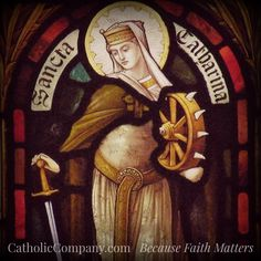 St. Catherine of Alexandria - convert, early Christian martyr and patron saint of philosophers and theologians.