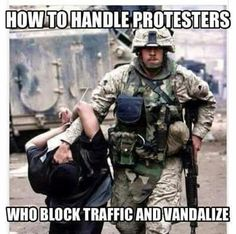 They have the right to PEACEFUL PROTEST. Not the right to break shit and act like bulls in china shops