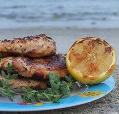 Grilled Chicken w/ Lemon & Oregano: chicken breasts, grated lemon zest ...