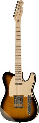 Fender Kotzen Telecaster BSB  Fender Kotzen Richie Kotzen Signature series Telecaster - light ash body with thomann quilted maple cap, maple neck with satin finish, 22 frets, 1x Di Marzio Twang King and 1x Di Marzio Chopper T pick-ups, brass bridge, Gotoh Pearl Peg Head tuners, gold hardware, Colour: Braun Sunburst.