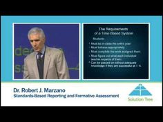 Solution Tree: Robert Marzano, Standards-Based Reporting and Formative Assessment - YouTube