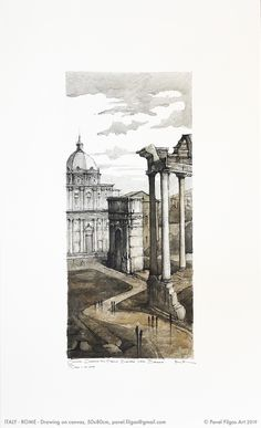 Home © Pavel Filgas Italy Architecture, Travel City, Less Is More, Drawing Art, Art Day, Florence, Rome, Illustrator, Sketch