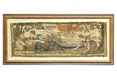 17th-C. Tapestry Fragment on OneKingsLane.com Embroidery Fabric, One Kings Lane, Artist Art, Art Tutorials, Vintage World Maps, Tapestry, Fabrics, Artists, Hanging Tapestry