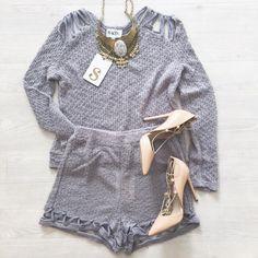 Tallu Knit Top + Shorts | #SaboSkirt