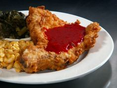 Deep Fried Pork Chops with Sweet and Spicy Red Pepper Jelly!!  THE ACTUAL RECIPE! From the BEST SHOW EVER! Diners Drive-in and Dives Food Network site!!