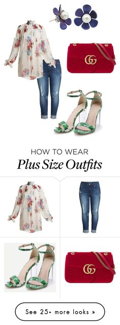 """""""Untitled #1713"""" by steflsamour on Polyvore featuring Melissa McCarthy Seven7, Dolce&Gabbana and Gucci"""