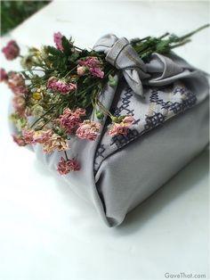 Furoshiki ~ reusable wrapping cloths.  Beautiful.