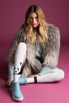 Zoo Lander Animal Printed Fashion Tights White Zohara on TrendyLegs.com