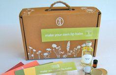 DIY Kit to make organic lip balms
