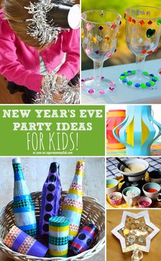 Some great ideas for throwing a New Year's Eve party for the kids!