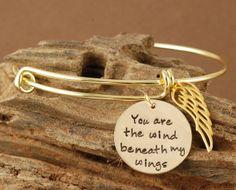 Wind Beneath My Wings Gold Bangle Bracelet