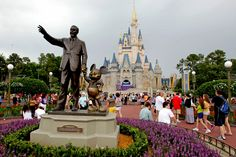 A photo of a very vacant Disney park, people should not attend until their workers are treated correctly