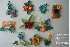 Handicraft, product Bumagoplastika, Quilling: Magnets for the soul-Wildflowers Paper. Photo 1