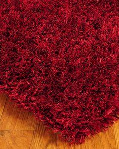 carnation shag rug
