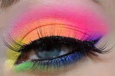 pink eye makeup, I super adore Leesha, Sugarpill, crazy bright neon makeup, and the ElektroCute collection! Crazy Makeup, Cute Makeup, Pretty Makeup, Makeup Art, Makeup Tips, Beauty Makeup, Hair Makeup, Makeup Ideas, Dance Makeup