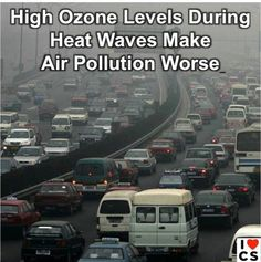 High temperatures make air pollution worse  Full story: