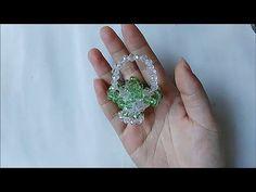 水晶串珠 趣味小物 小花籃 - YouTube