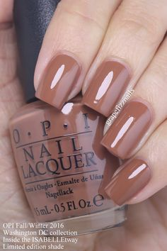 Grape Fizz Nails: OPI Washington DC Collection for Fall/Winter 2016 Nagellack opi Classy Nails, Fancy Nails, Cute Nails, Pretty Nails, Opi Nail Colors, Fall Nail Colors, Fabulous Nails, Gorgeous Nails, Gel Nagel Design