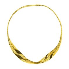 HERMES PARIS, Gold Twist Necklace | From a unique collection of vintage choker necklaces at http://www.1stdibs.com/jewelry/necklaces/choker-necklaces/