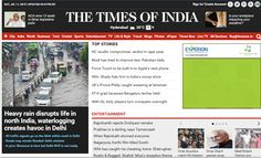Times of India, being the most distinguished newspaper as well as online news portal through India, has an Alexa rank of 380, beating the millions of other websites. With its unbeatable standards of journalism, it has become the leading website for for advertisements. Book your ads instantly via releaseMyAd.