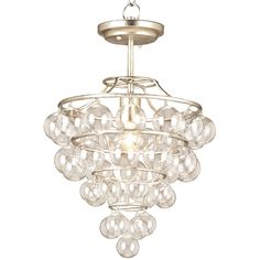 """Currey  & Co astral pendant; 15"""" W x 15""""D x 22"""" H; $766; silver leaf only.  Use in dining room???"""