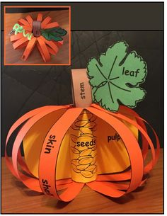 Pumpkin Science: Let's Label A Pumpkin! Science Activities: Pumpkin Activities: Let's Label a Pumpkin Craft. Halloween Activities, Autumn Activities, Halloween Crafts, Fall Preschool, Preschool Crafts, Fall Crafts For Kids, Toddler Crafts, Kindergarten Activities, Science Activities