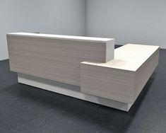 Wood reception desk CUB INB C01 LOG vanilla