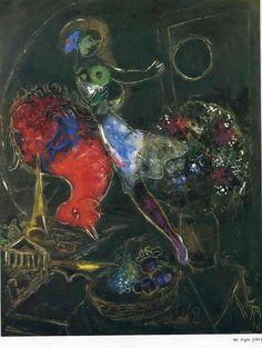 Marc C hagall - Night, 1953