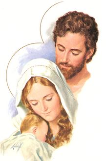 The Holy Family (Luke 2:27)  If God calls you to marriage, then remember Christ's foster father: he loved his wife and son more than himself, and would do anything to protect them from harm. Learn from him, and don't be afraid to ask him to pray for you.