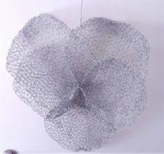 Jallen2 Chicken wire sculpture: LARGE PANSY (new listing this week) | Trade Me Chicken Wire Sculpture, Indoor Gardening, Pansies, Sculptures, Carving, Pattern, Outdoor, Design, Outdoors