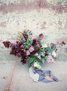 Shades of purple: http://www.stylemepretty.com/2015/05/18/purple-garden-glam-wedding-inspiration/   Photography: Jessica Burke - http://www.jessicaburke.com/