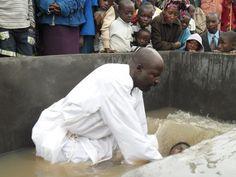 With Open Eyes withopeneyes.net baptism service in Rwanda